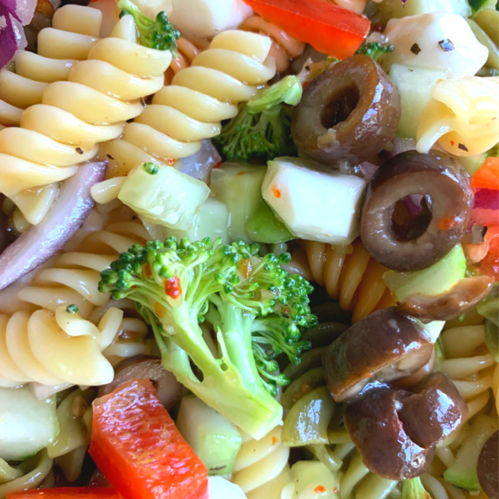 Tri Color Pasta Salad with Italian Dressing