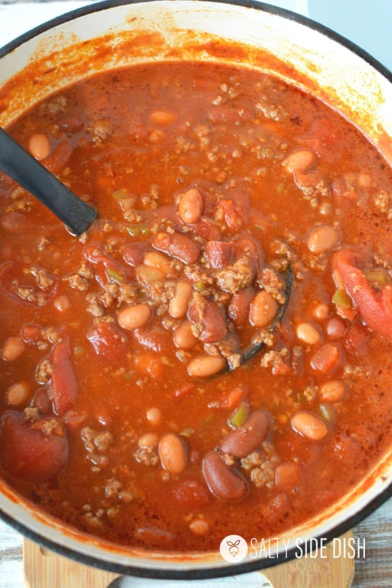 Wendy's Copycat Chili Recipe done and ready to serve