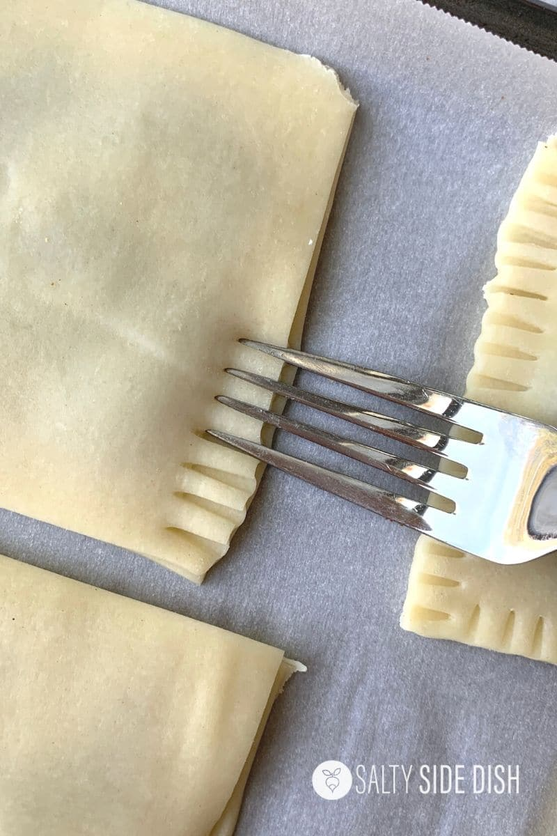 seal edges of pop tart with a fork