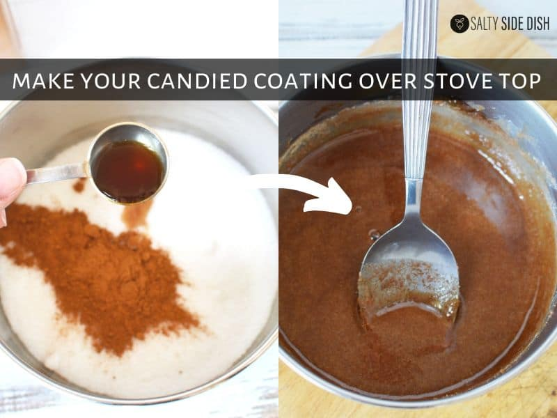 creating candied coating for candied walnuts