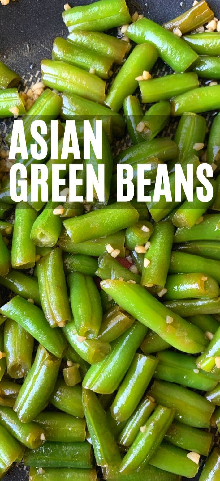 Asian green beans pinterest pin
