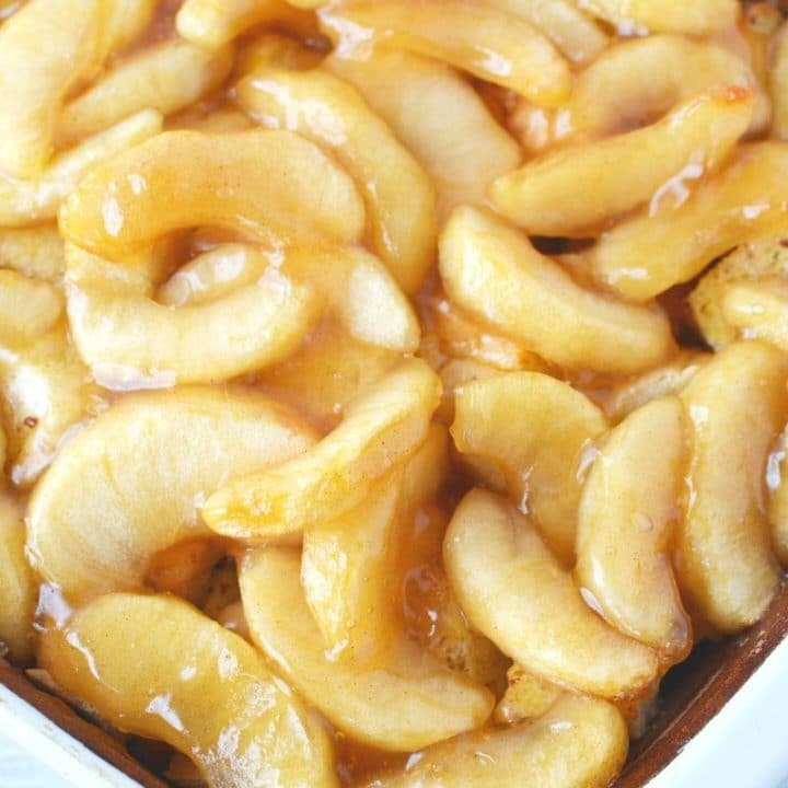 Apple Breakfast Bake with Caramel Sauce