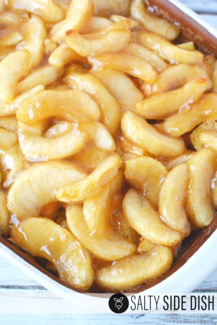 Apple Breakfast Bake with Caramel Sauce