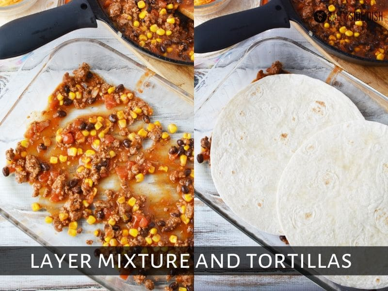 layering your mexican casserole bake