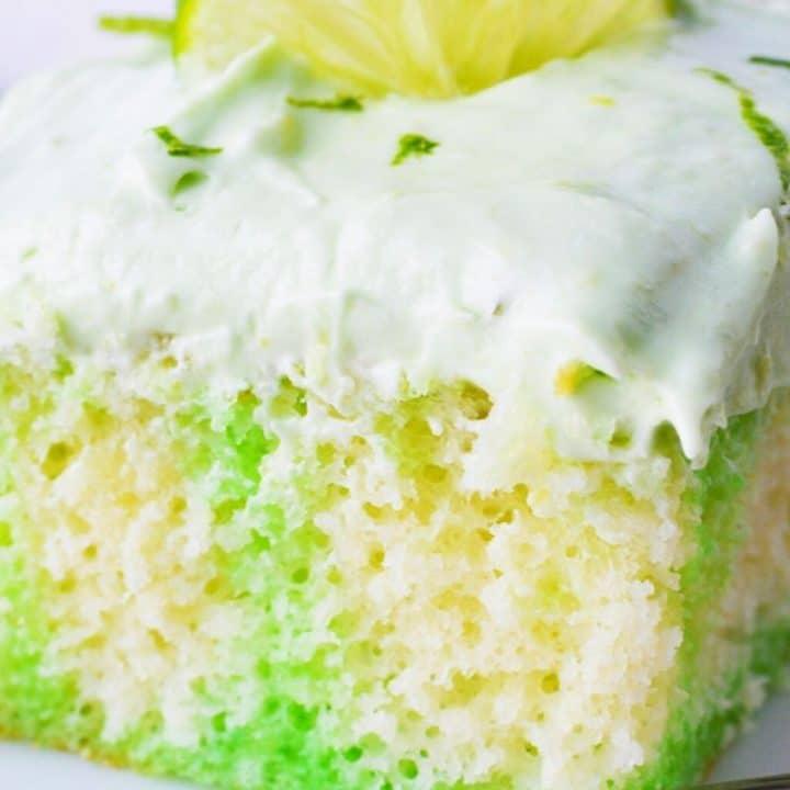 Key Lime Jello Poke Cake