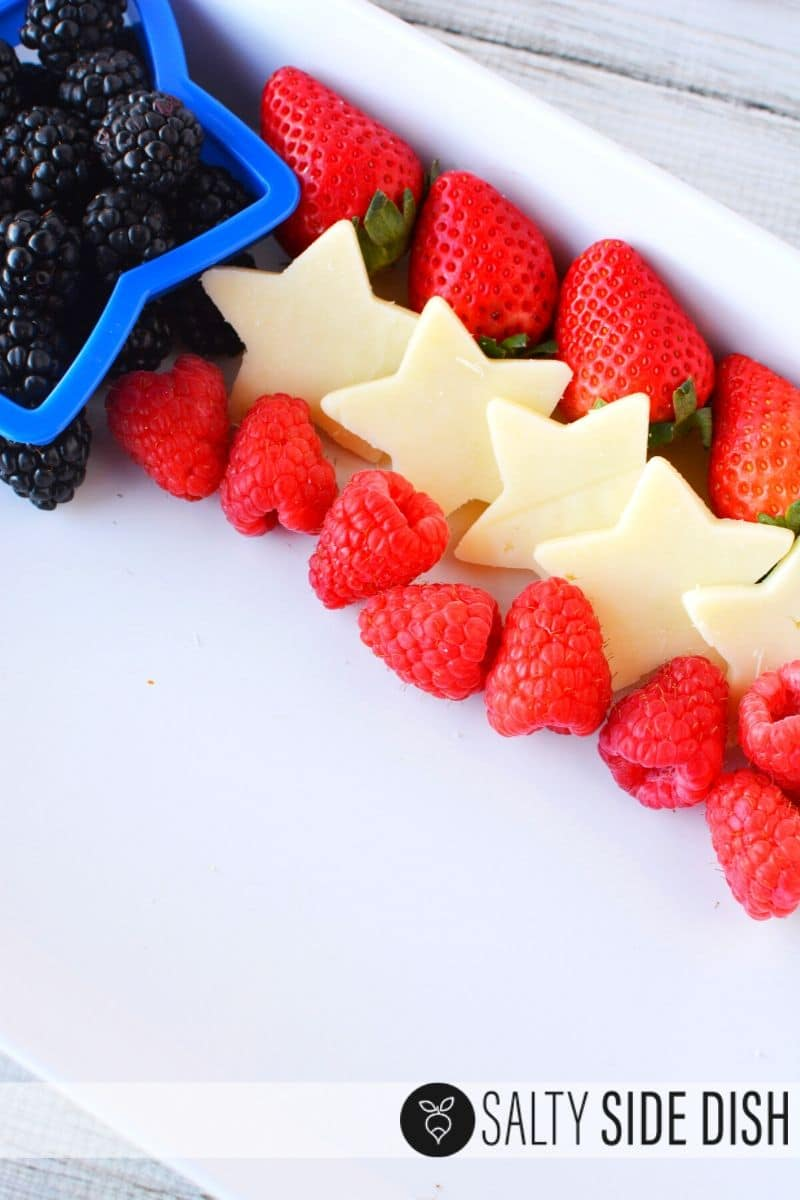line up your red white and blue stripes for your fruit tray