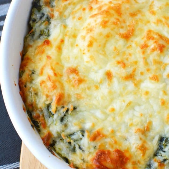 Easy Cheesy Spinach Mashed Potatoes