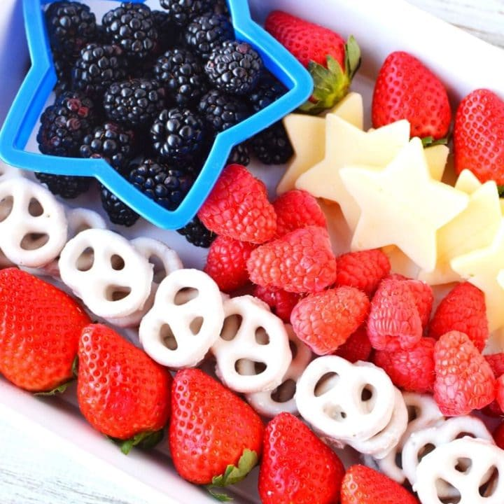 American Flag Patriotic Appetizer Fruit Tray
