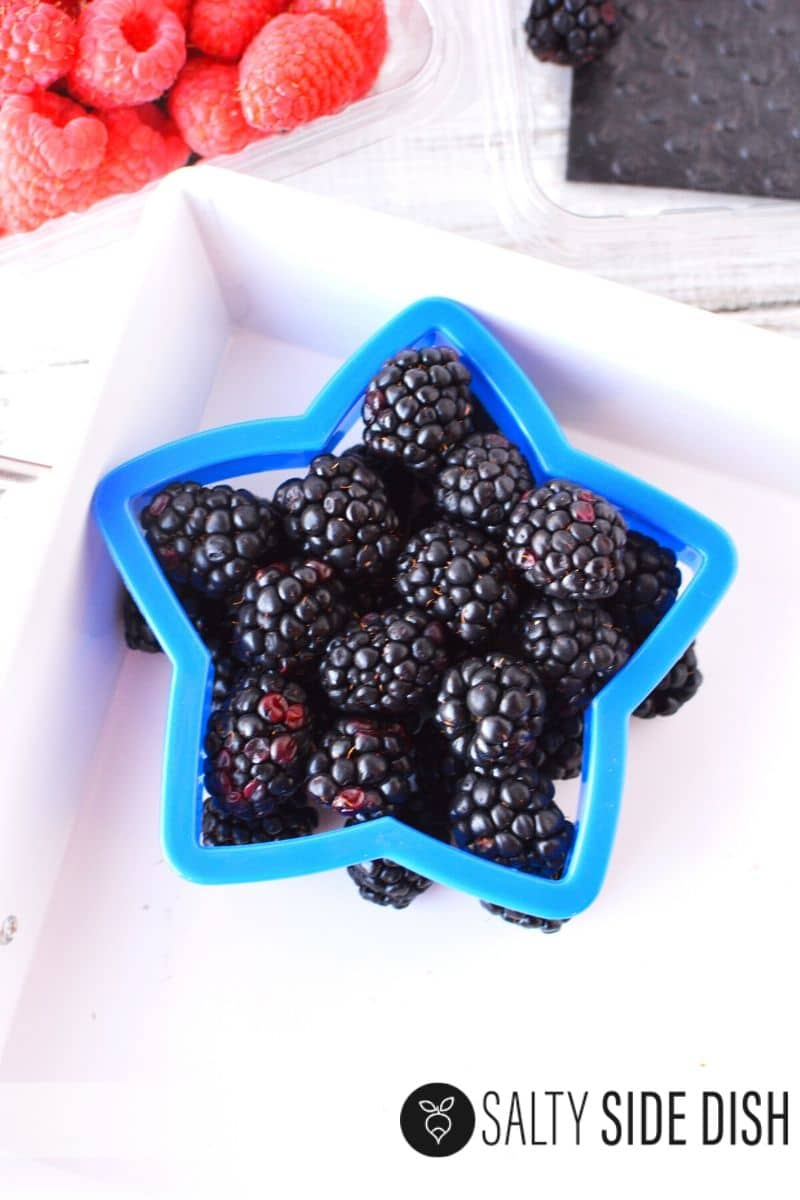 Blackberries make a perfect blue fruit