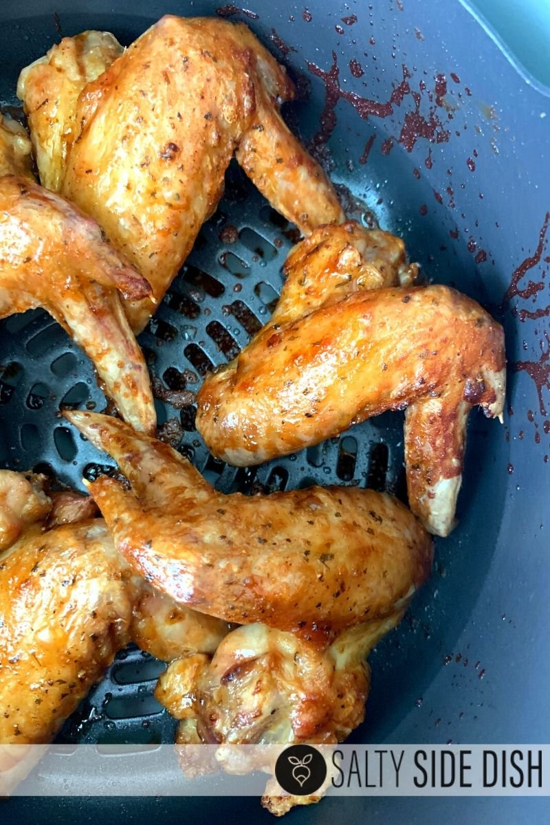 chicken wings made in the ninja foodi and done in 3 minutes