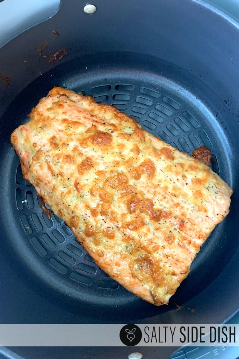 low carb salmon cooked in the air fryer