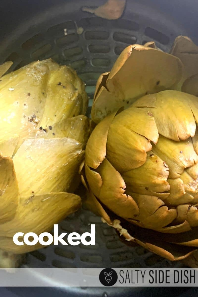 Cooked whole artichokes in a ninja foodi