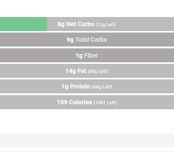 nutritional information for cucumber salad