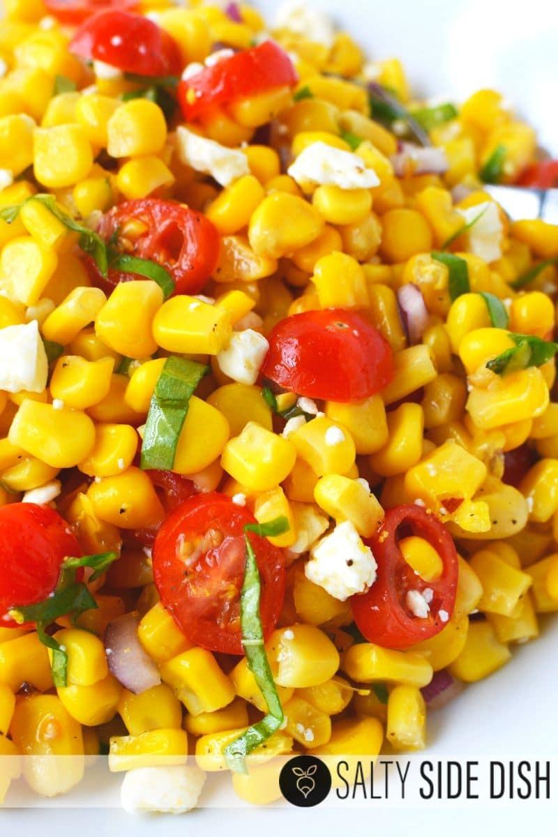 summer corn salad recipe - Corn and Tomato Salad Side Dish Recipe