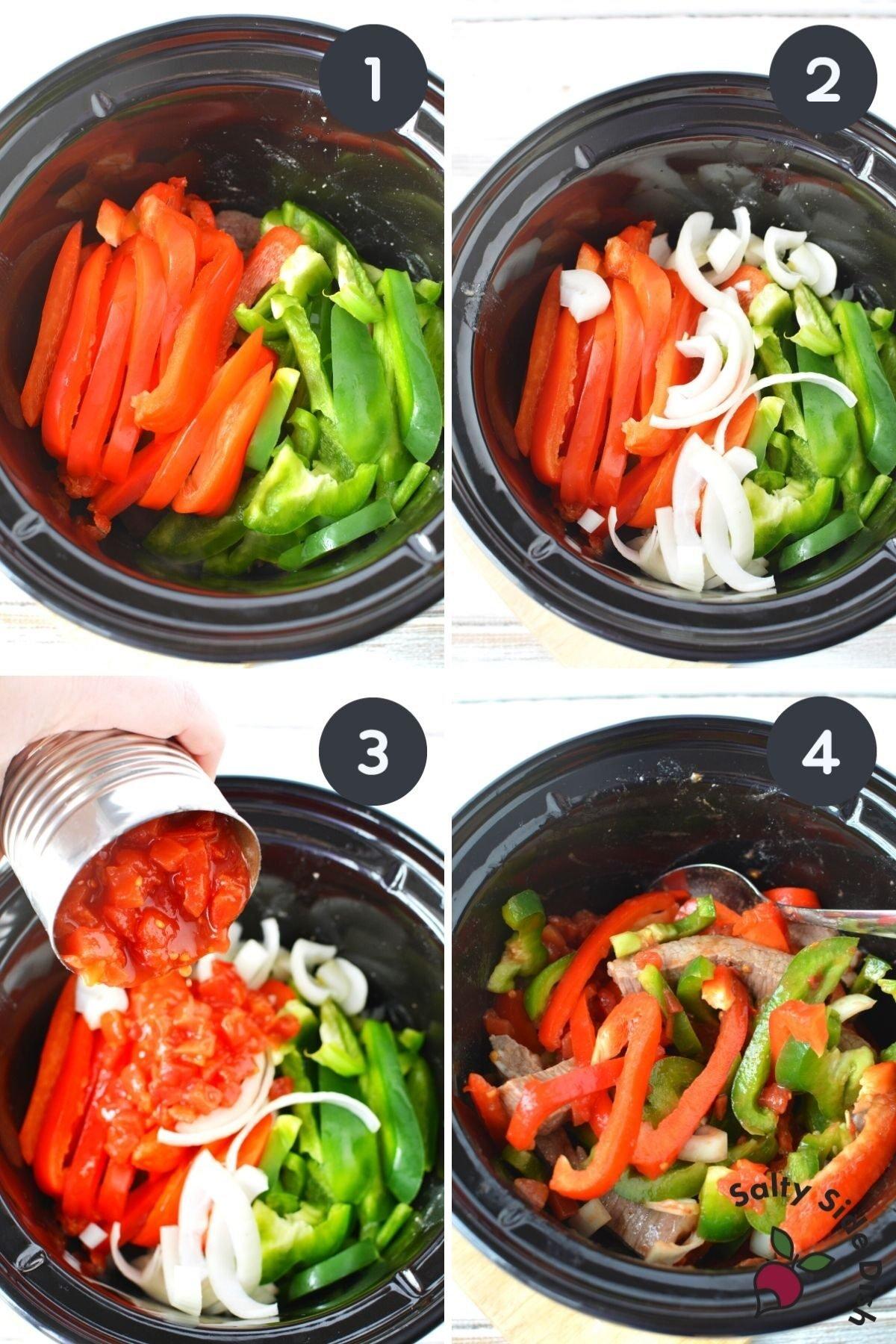 peppers in crock pot.
