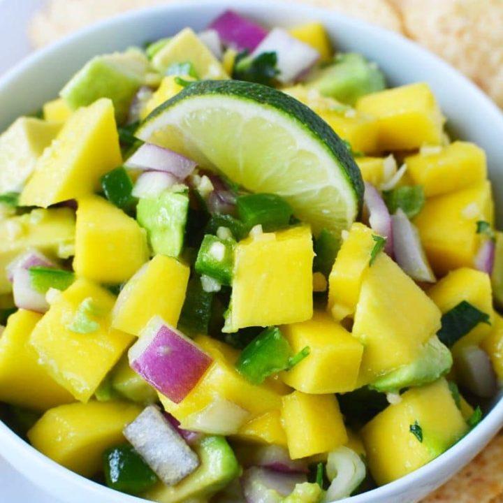Mango Avocado Salsa Recipe with Lime Vinaigrette
