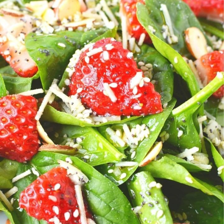 Strawberry Spinach Salad Recipe with Poppy Seed Dressing