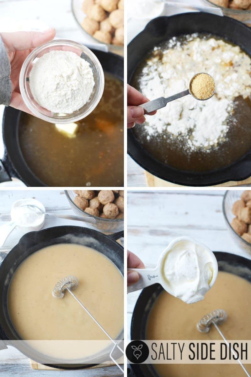 Homemade Cream sauce for frozen meatballs