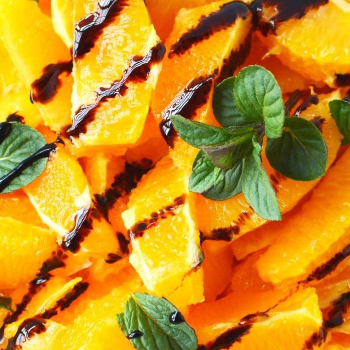Citrus Salad Recipe with Balsamic Glaze and Fresh Mint