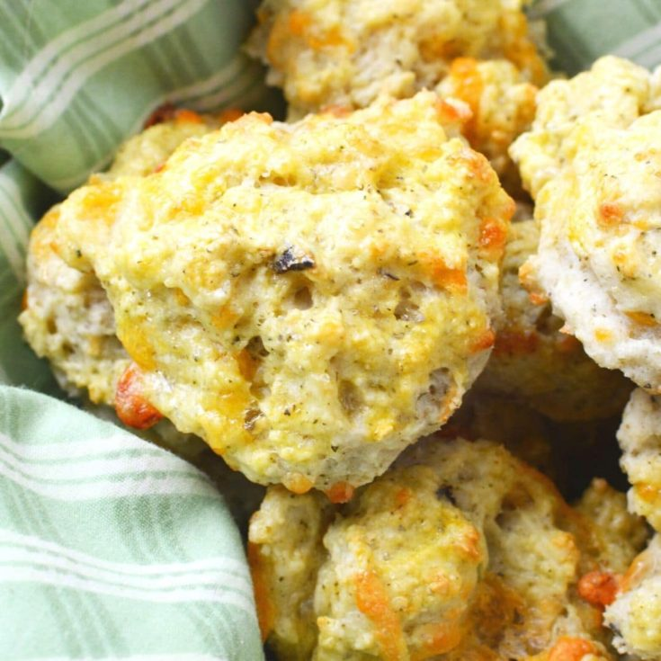 Easy Drop Biscuits with Cheddar Cheese
