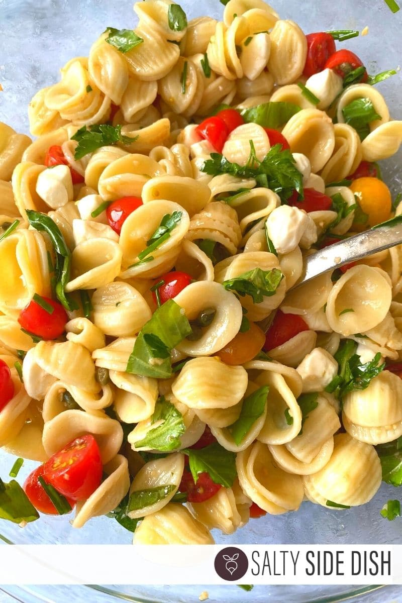 orecchietta pasta salad in a bowl