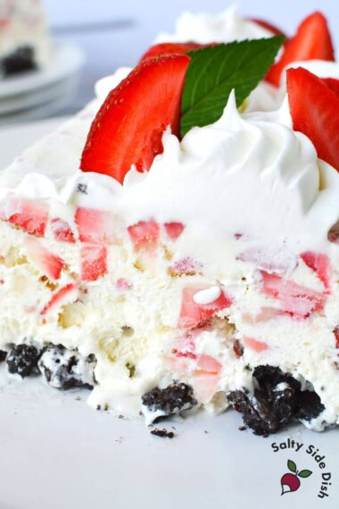 ice box cake on a plate