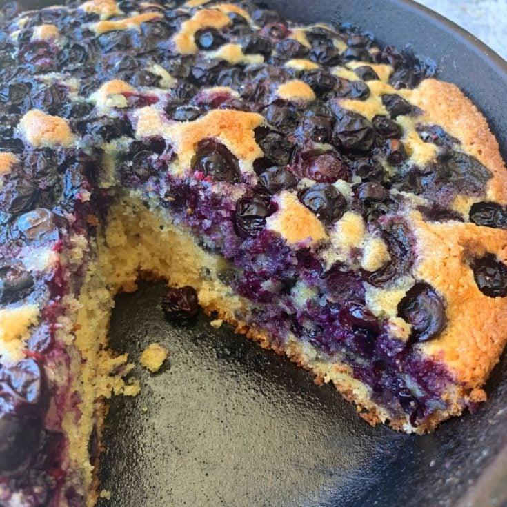Cast Iron Skillet Blueberry Cake