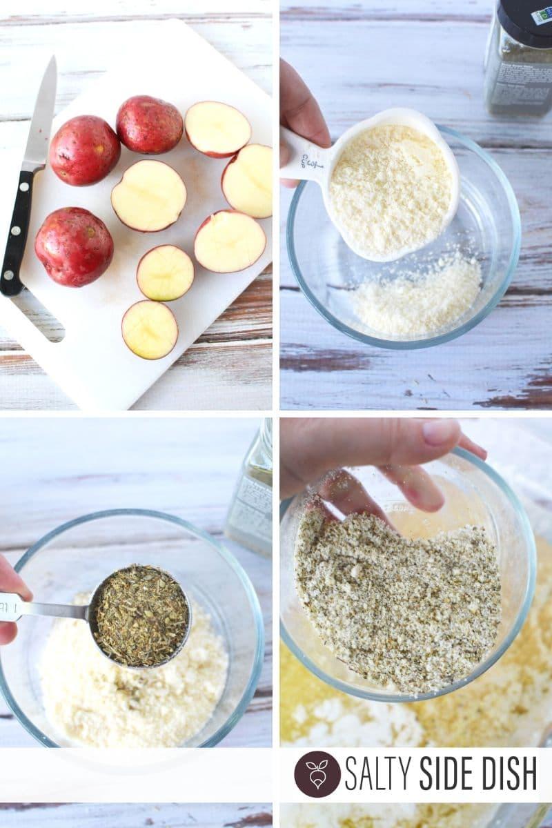 making Parmesan herb seasonings