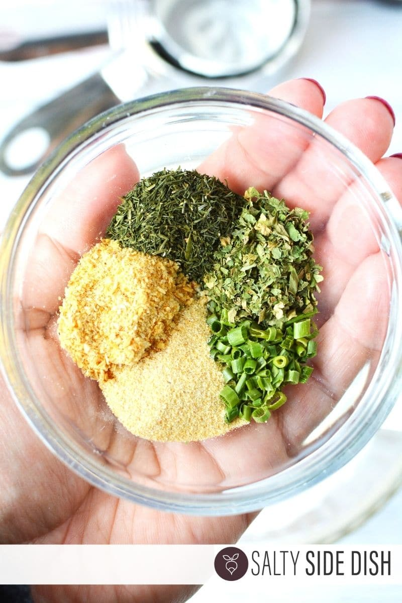 Ranch Seasoning and Spices Mix in a prep bowl