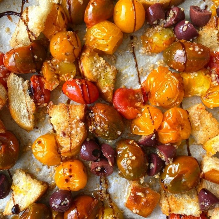 Roasted Cherry Tomatoes in Homemade Garlic Blend