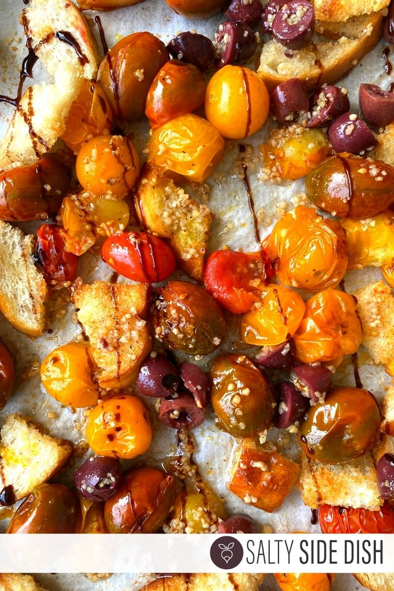 roasted tomato blend with croutons and balsamic glaze