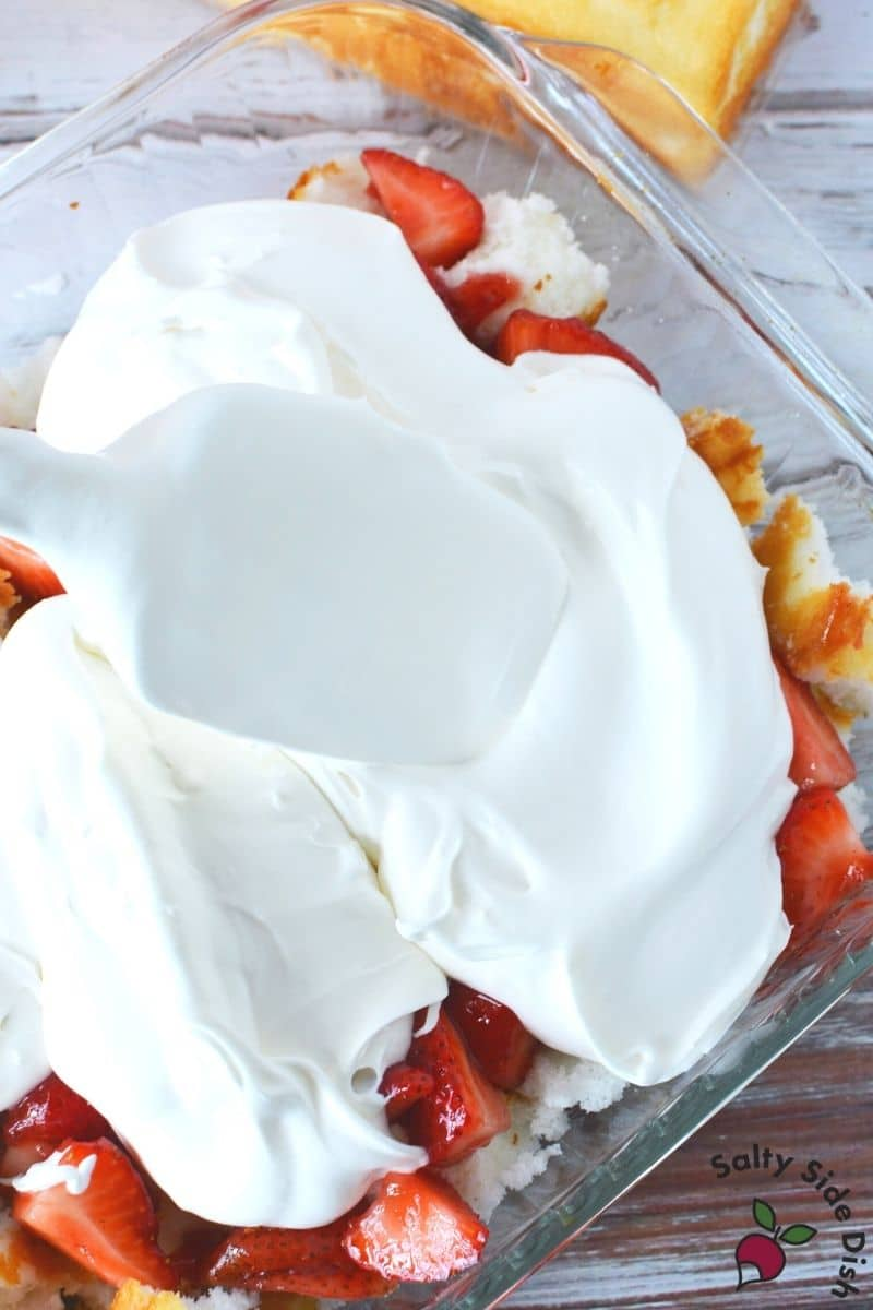 add on a layer of whipped cream mixture