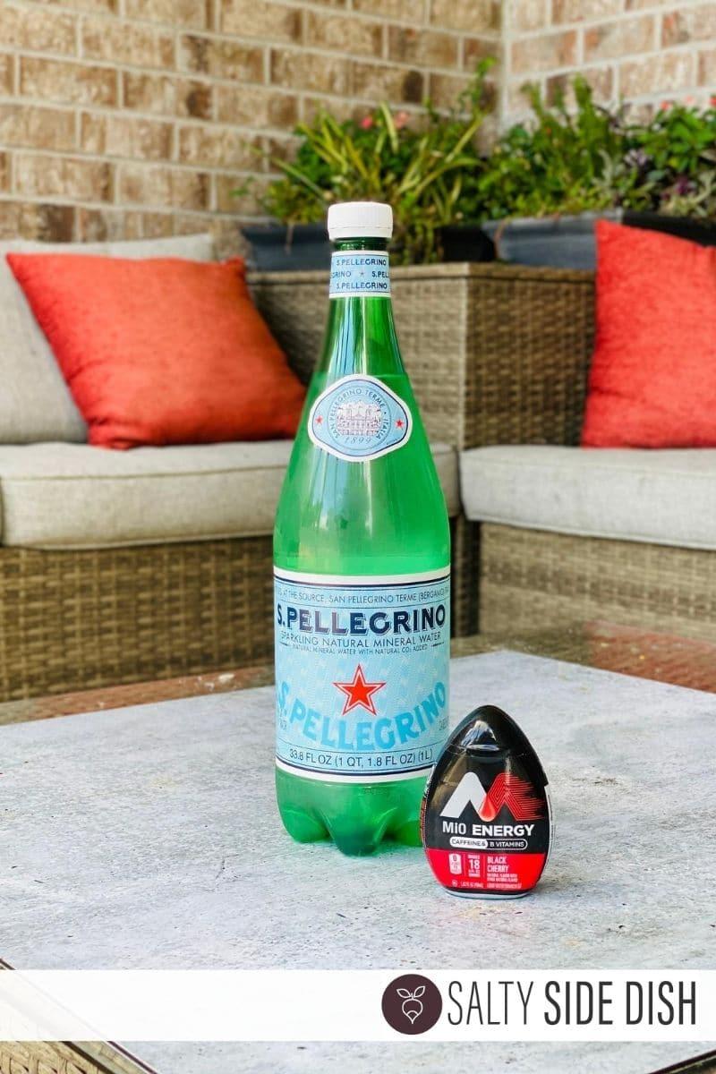 TikTok Pellegrino and Mio Energy Black Cherry