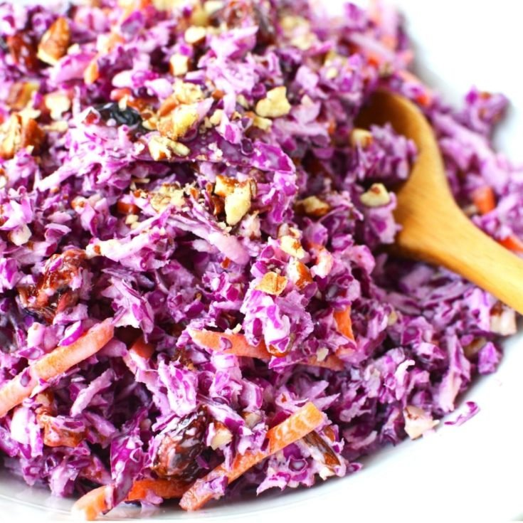 Red Cabbage Slaw with Carrots