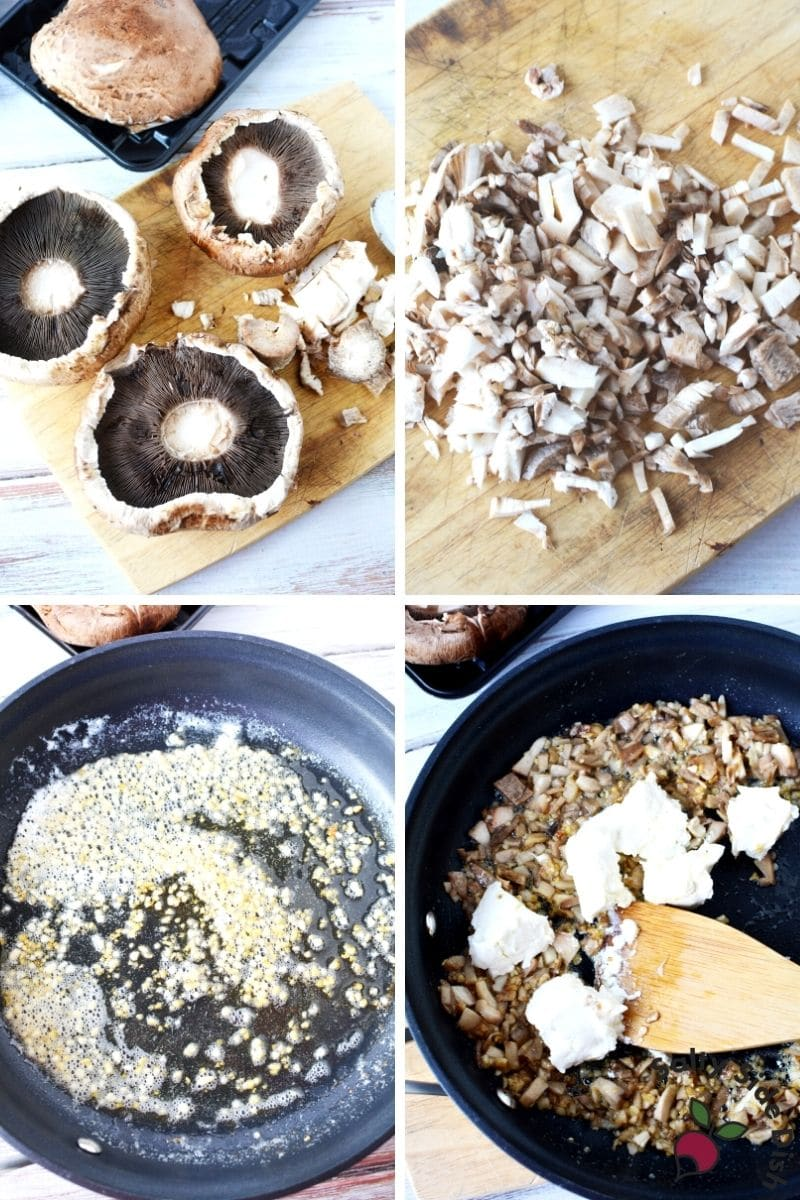 easy Stuffed Portobello Mushrooms with fresh Portobello mushrooms and cream cheese