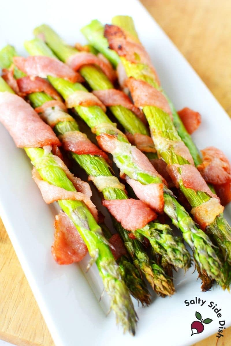 serve up bacon wrapped asparagus