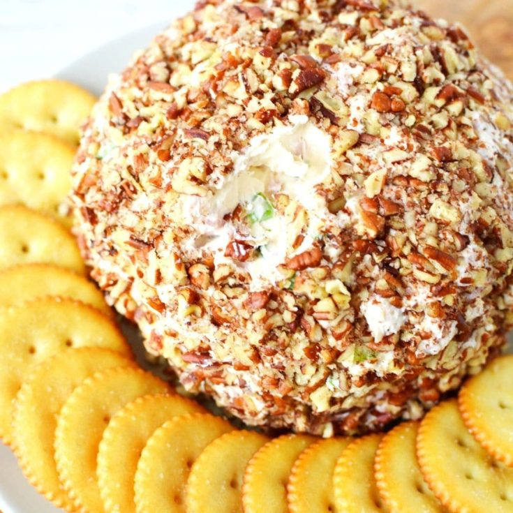 Cheese Ball with Diced Ham