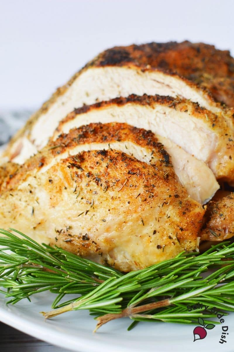 Ninja Foodi Turkey Breast Recipe with Air Fried Crispy Skin