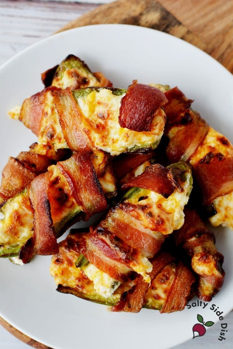 takes about 12-15 minutes for perfect bacon wrapped and stuffed jalapenos