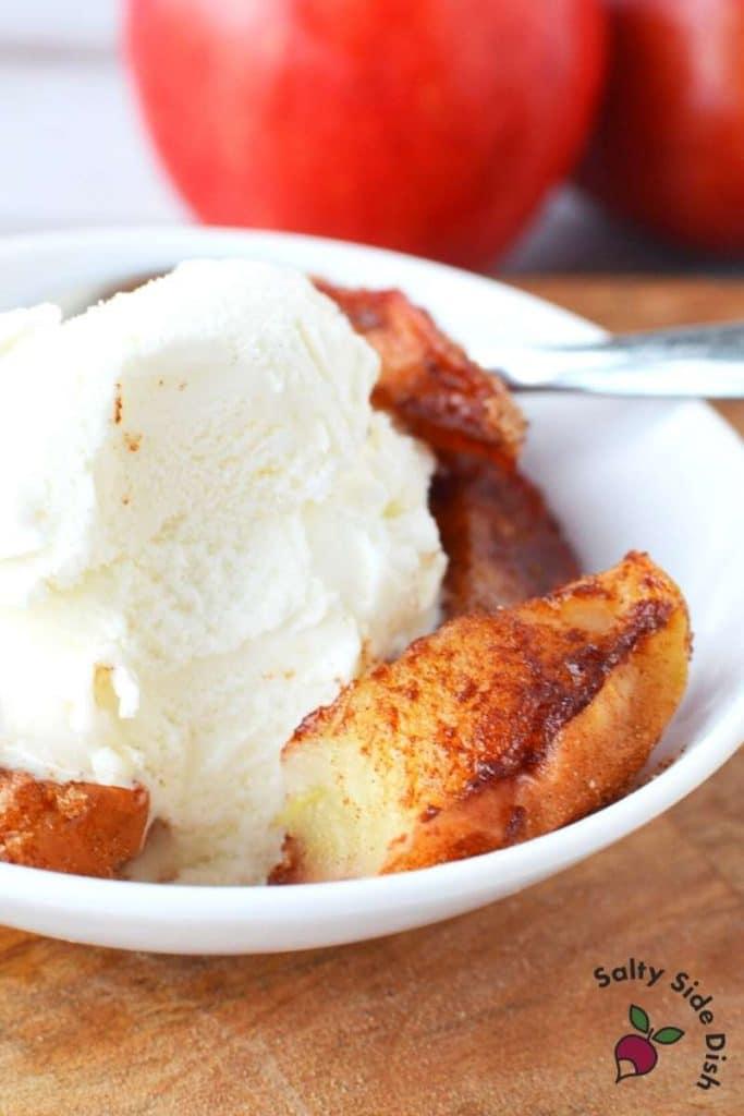 Air Fryer apples and cinnamon