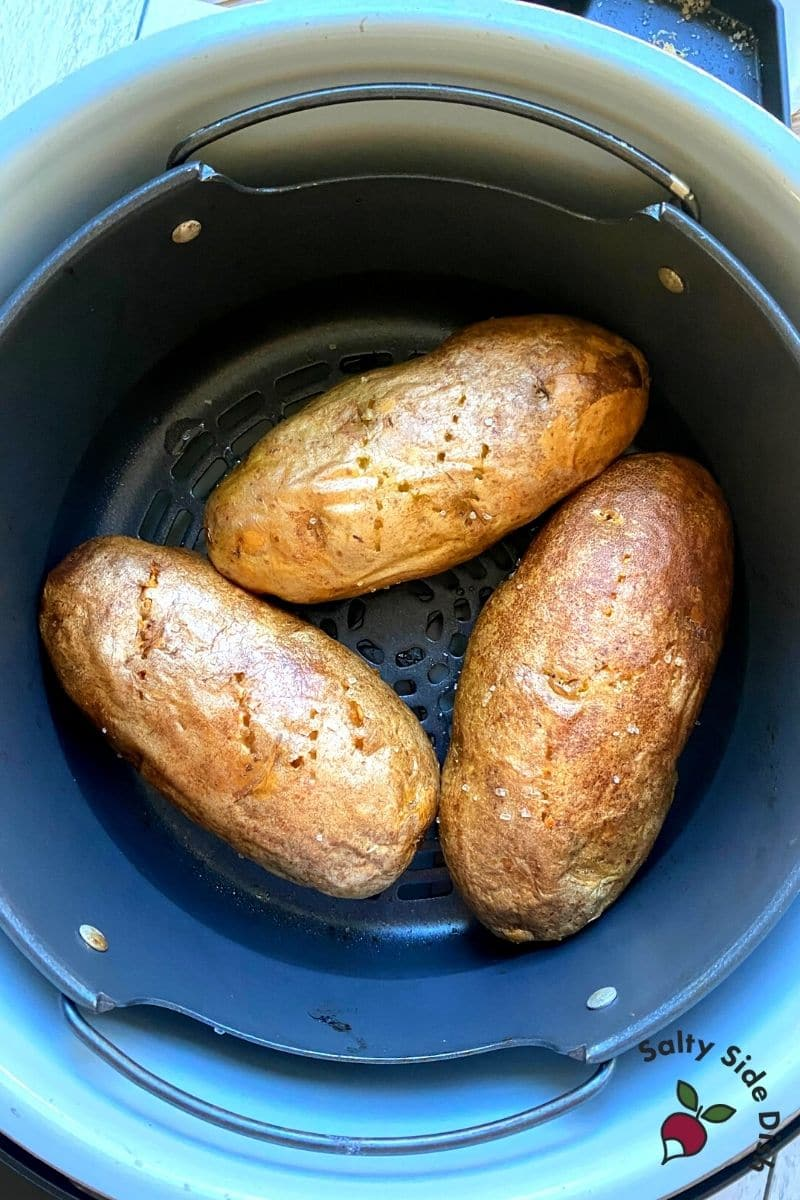 done air fryer baked potatoes in the NF AC ready to go
