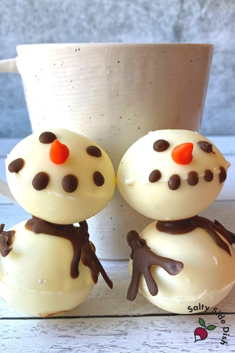 Melt the White Chocolate Snowman in Coffee or Cocoa