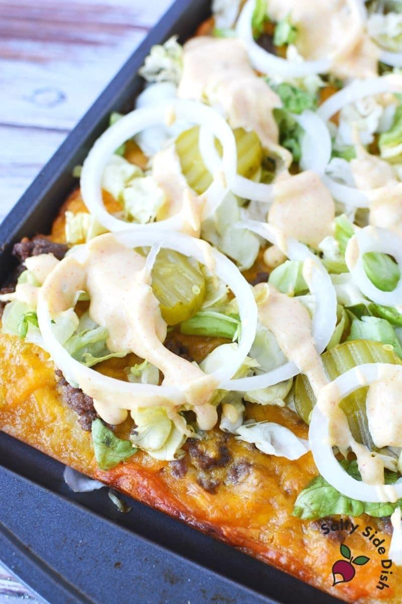 Delicious big mac pizza recipe from tiktok