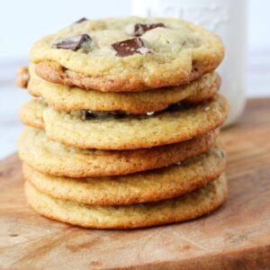 sea salt and chocolate chip chunk cookies