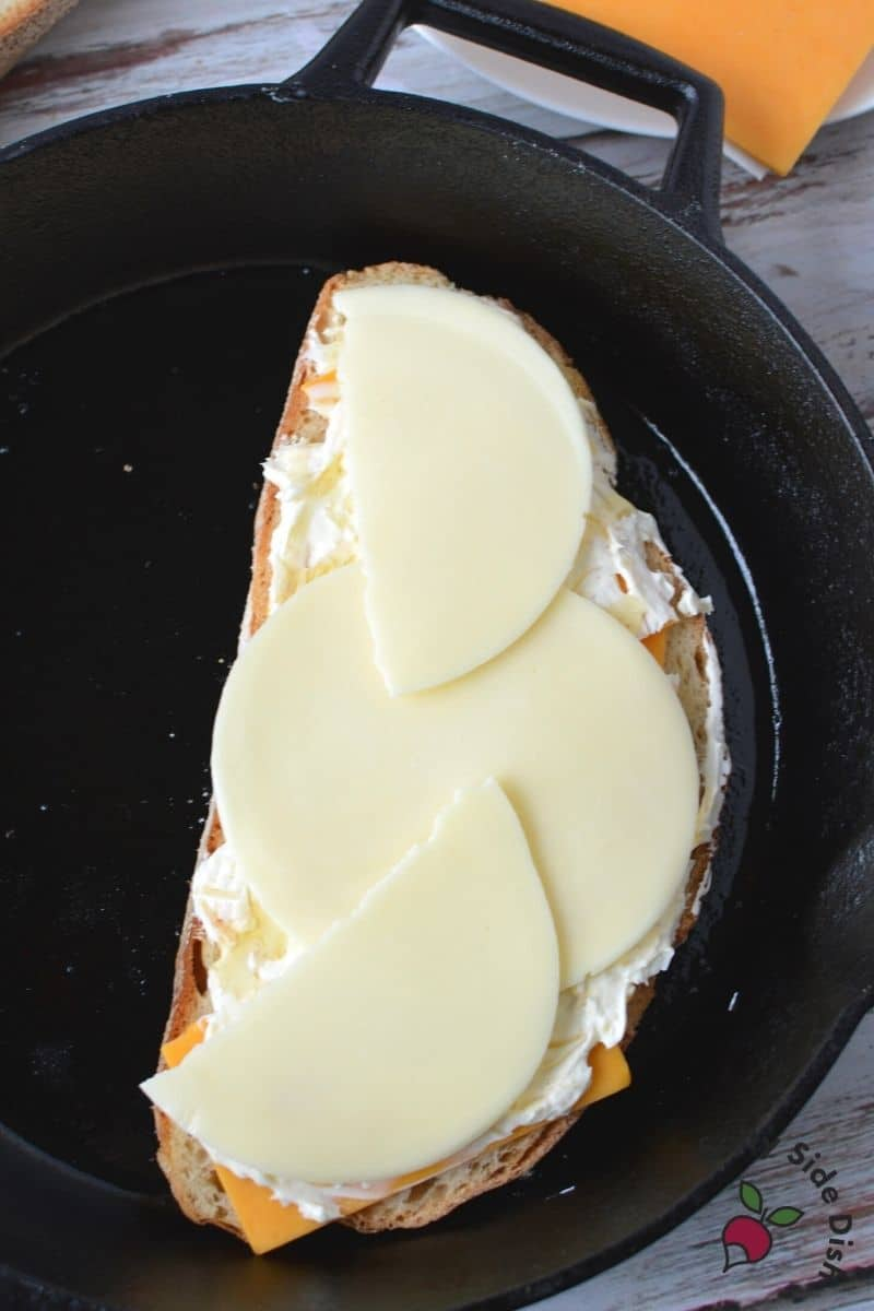 this sandwich is nothing without provolone, melty, gooey and so good