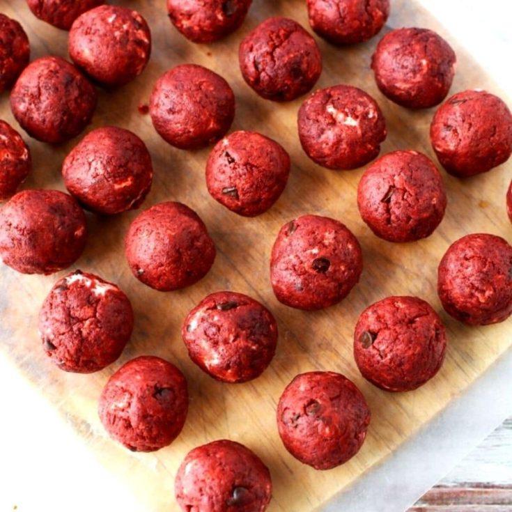 Red Velvet Cake Balls with Cream Cheese