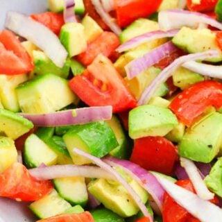 avocado salad in a bowl