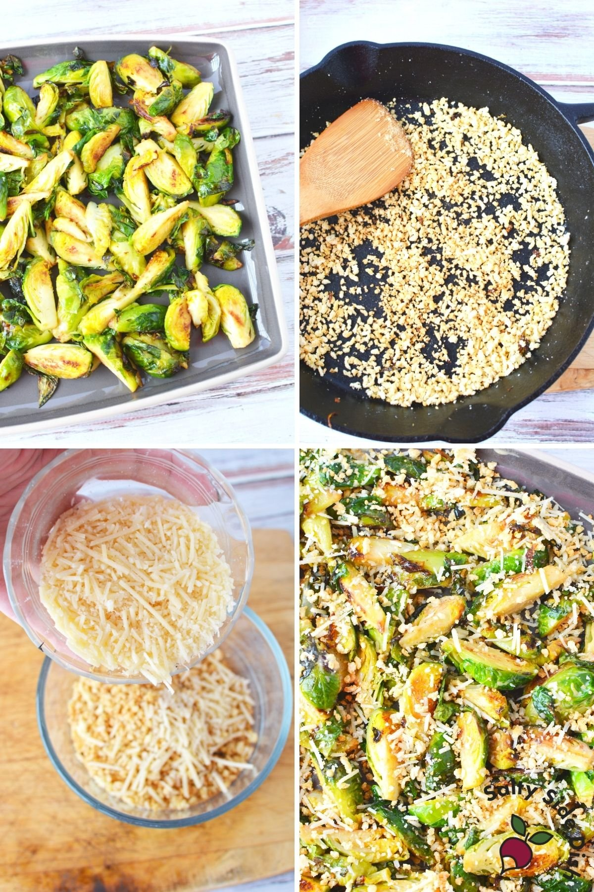 sheet pan brussels sprouts and cast iron pan