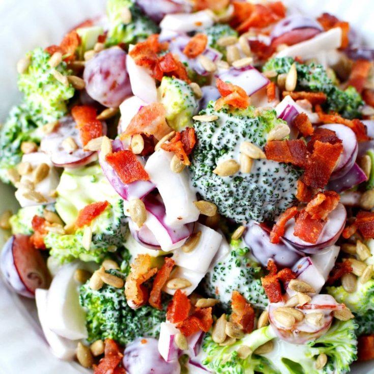 broccoli grape salad recipe with bacon