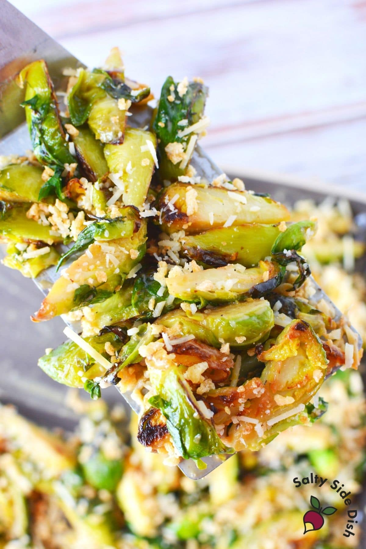 spatula with brussels sprouts